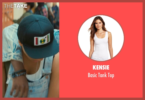 Kensie white top from Dope seen with Kiersey Clemons (Diggy)