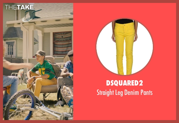 Dsquared2 yellow pants from Dope seen with Kiersey Clemons (Diggy)