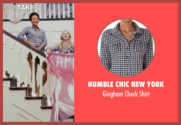 Humble Chic New York black shirt from Neighbors 2: Sorority Rising seen with Kiersey Clemons (Beth)