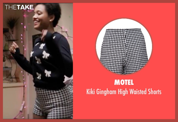 Motel black shorts from Neighbors 2: Sorority Rising seen with Kiersey Clemons (Beth)