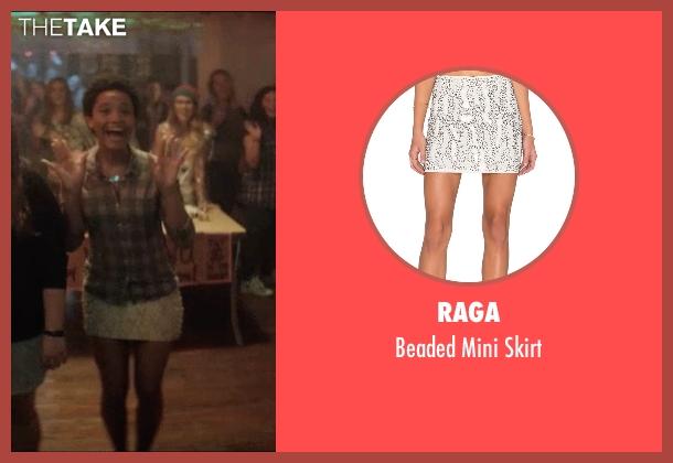 Raga white skirt from Neighbors 2: Sorority Rising seen with Kiersey Clemons (Beth)