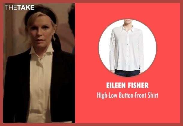 Eileen Fisher white shirt from Fifty Shades Darker seen with Kim Basinger (Elena Lincoln)