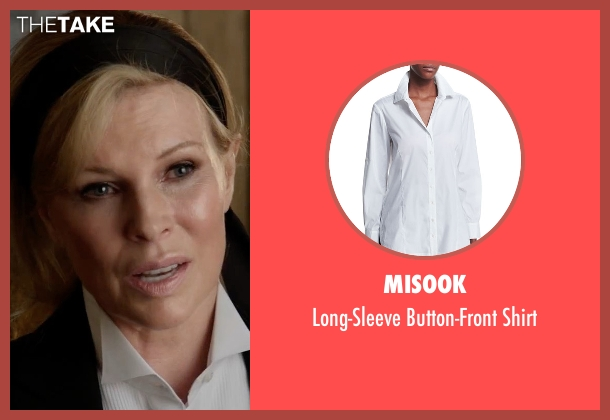 Misook white shirt from Fifty Shades Darker seen with Kim Basinger (Elena Lincoln)