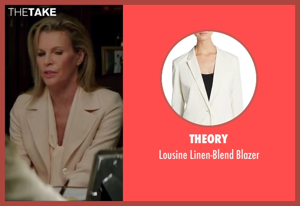 Theory  white blazer from The Nice Guys seen with Kim Basinger (Unknown Character)