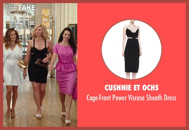 Cushnie Et Ochs black dress from Sex and the City 2 seen with Kim Cattrall (Samantha Jones)