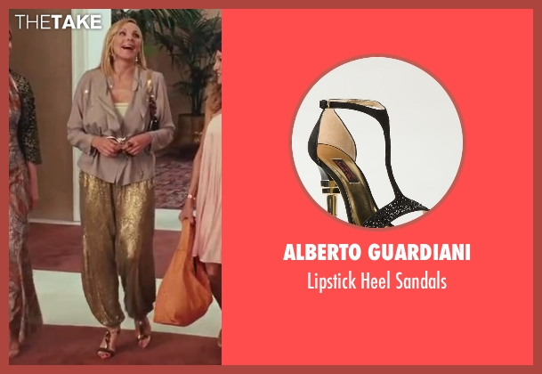 Alberto Guardiani black sandals from Sex and the City 2 seen with Kim Cattrall (Samantha Jones)