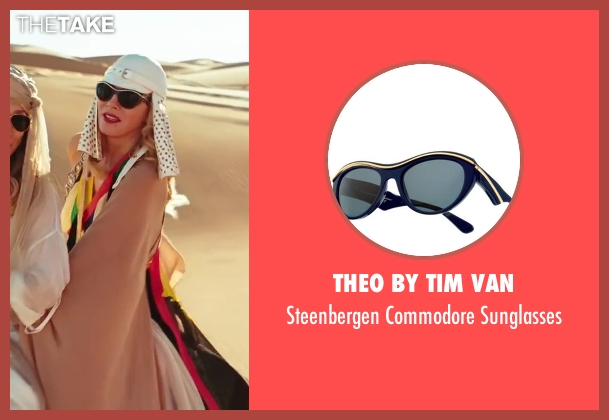Theo by Tim Van black sunglasses from Sex and the City 2 seen with Kim Cattrall (Samantha Jones)