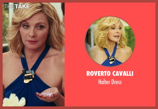 Roverto Cavalli blue dress from Sex and the City 2 seen with Kim Cattrall (Samantha Jones)