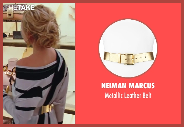 Neiman Marcus gold belt from Sex and the City 2 seen with Kim Cattrall (Samantha Jones)