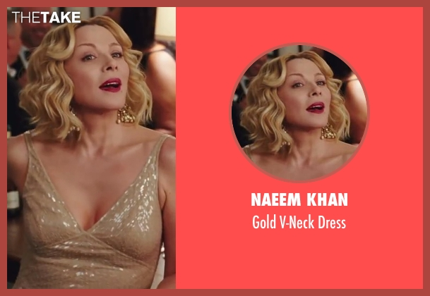 Naeem Khan gold dress from Sex and the City 2 seen with Kim Cattrall (Samantha Jones)