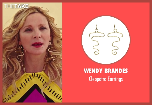 Wendy Brandes gold earrings from Sex and the City 2 seen with Kim Cattrall (Samantha Jones)