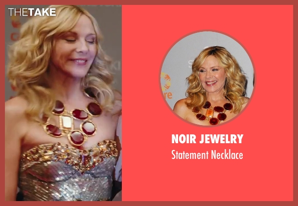 Noir Jewelry gold necklace from Sex and the City 2 seen with Kim Cattrall (Samantha Jones)
