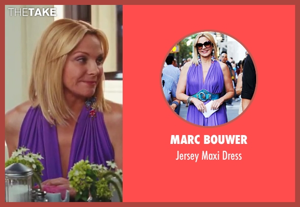 Marc Bouwer purple dress from Sex and the City 2 seen with Kim Cattrall (Samantha Jones)
