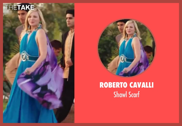 Roberto Cavalli purple scarf from Sex and the City 2 seen with Kim Cattrall (Samantha Jones)