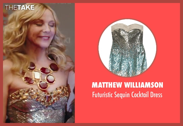Matthew Williamson silver dress from Sex and the City 2 seen with Kim Cattrall (Samantha Jones)