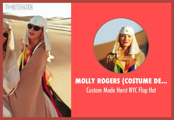 Molly Rogers (Costume Designer) white hat from Sex and the City 2 seen with Kim Cattrall (Samantha Jones)