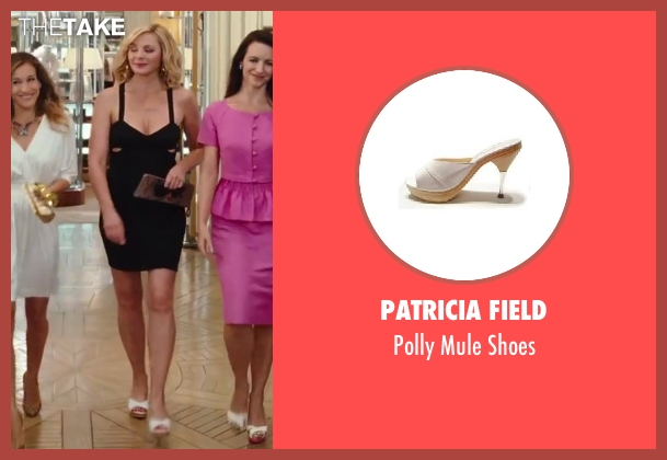 Patricia Field white shoes from Sex and the City 2 seen with Kim Cattrall (Samantha Jones)