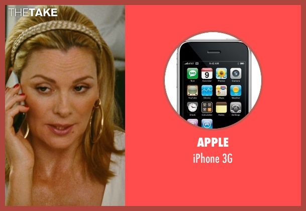 Apple 3g from Sex and the City seen with Kim Cattrall (Samantha Jones)