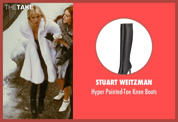 Stuart Weitzman black boots from Sex and the City seen with Kim Cattrall (Samantha Jones)