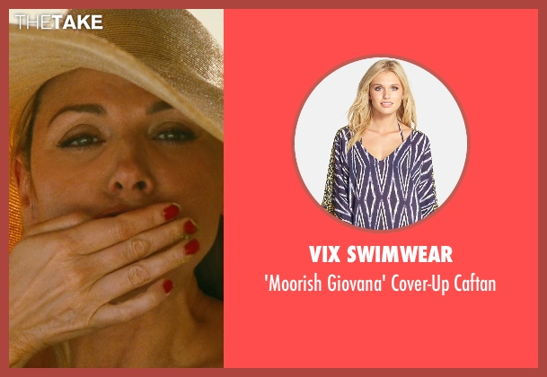 Vix Swimwear blue caftan from Sex and the City seen with Kim Cattrall (Samantha Jones)