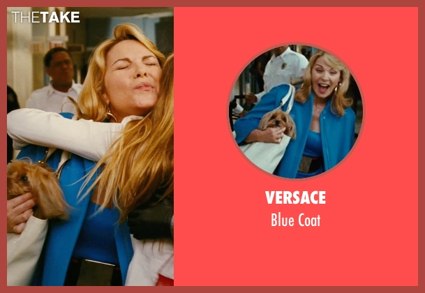 Versace blue coat from Sex and the City seen with Kim Cattrall (Samantha Jones)