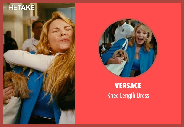Versace blue dress from Sex and the City seen with Kim Cattrall (Samantha Jones)