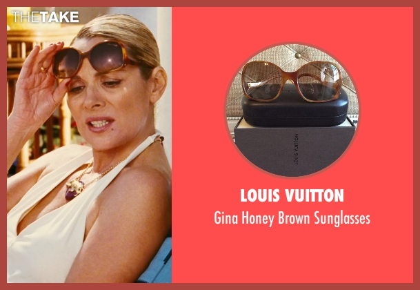 Louis Vuitton brown sunglasses from Sex and the City seen with Kim Cattrall (Samantha Jones)