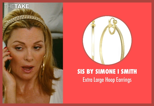 SIS By Simone I Smith gold earrings from Sex and the City seen with Kim Cattrall (Samantha Jones)