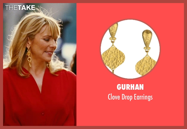 Gurhan gold earrings from Sex and the City seen with Kim Cattrall (Samantha Jones)