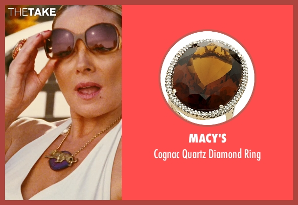 Macy's gold ring from Sex and the City seen with Kim Cattrall (Samantha Jones)