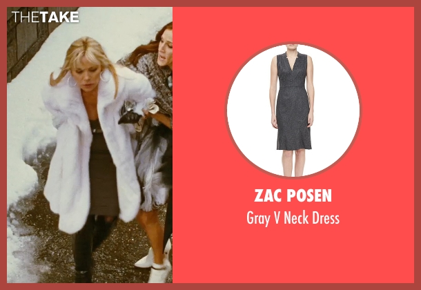 Zac Posen gray dress from Sex and the City seen with Kim Cattrall (Samantha Jones)