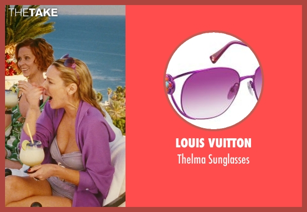 Louis Vuitton purple sunglasses from Sex and the City seen with Kim Cattrall (Samantha Jones)