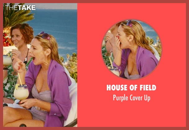 House of Field purple up from Sex and the City seen with Kim Cattrall (Samantha Jones)