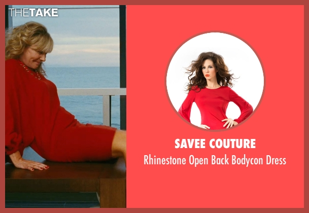 Savee Couture red dress from Sex and the City seen with Kim Cattrall (Samantha Jones)
