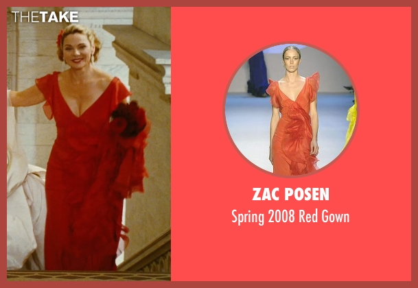 Zac Posen red gown from Sex and the City seen with Kim Cattrall (Samantha Jones)