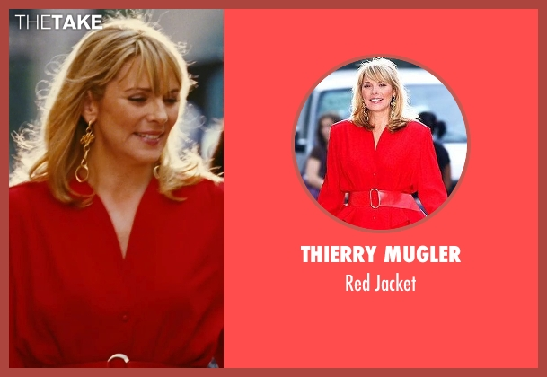 Thierry Mugler red jacket from Sex and the City seen with Kim Cattrall (Samantha Jones)