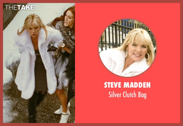 Steve Madden silver bag from Sex and the City seen with Kim Cattrall (Samantha Jones)
