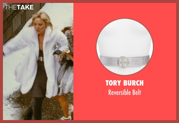 Tory Burch silver belt from Sex and the City seen with Kim Cattrall (Samantha Jones)