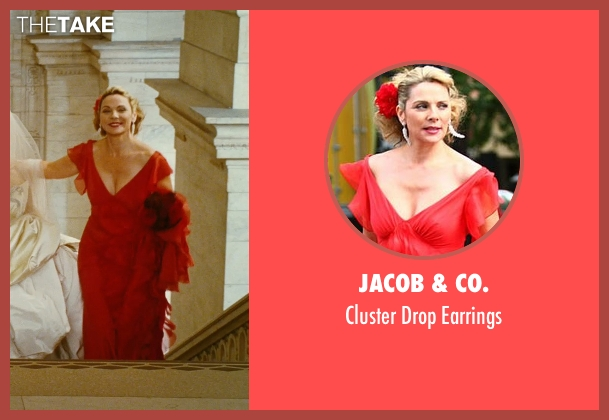 Jacob & Co. silver earrings from Sex and the City seen with Kim Cattrall (Samantha Jones)