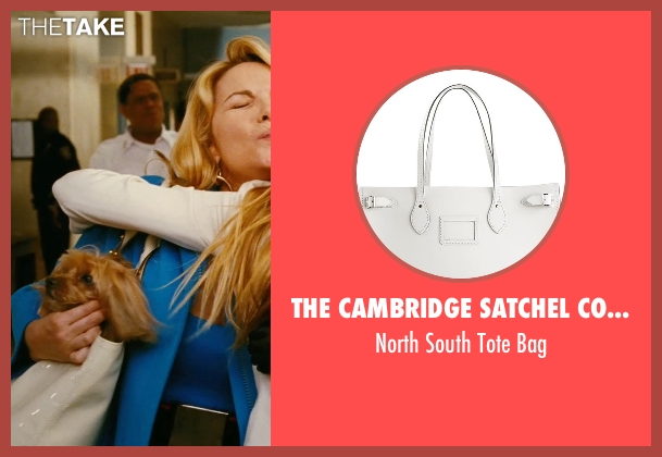 The Cambridge Satchel Company white bag from Sex and the City seen with Kim Cattrall (Samantha Jones)