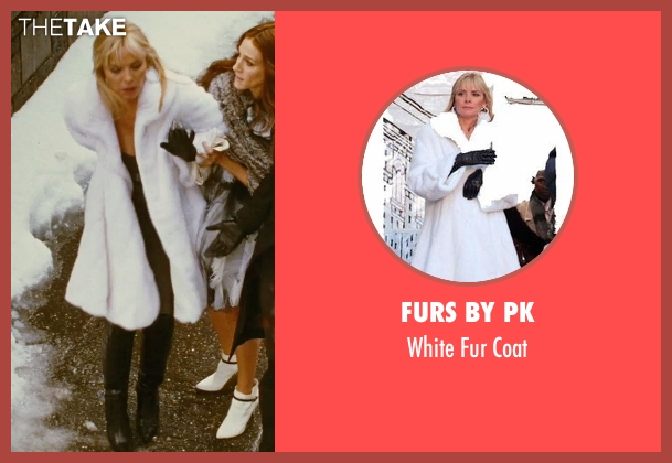 Furs By PK white coat from Sex and the City seen with Kim Cattrall (Samantha Jones)