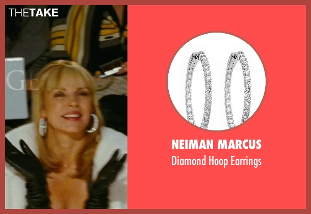 Neiman Marcus white earrings from Sex and the City seen with Kim Cattrall (Samantha Jones)