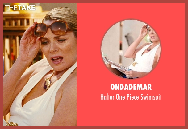 OndadeMar white swimsuit from Sex and the City seen with Kim Cattrall (Samantha Jones)