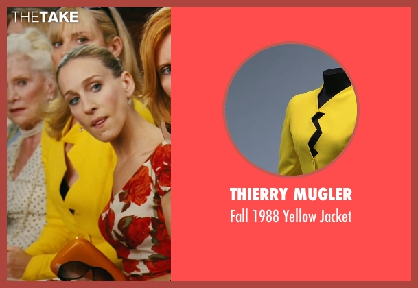 Thierry Mugler yellow jacket from Sex and the City seen with Kim Cattrall (Samantha Jones)