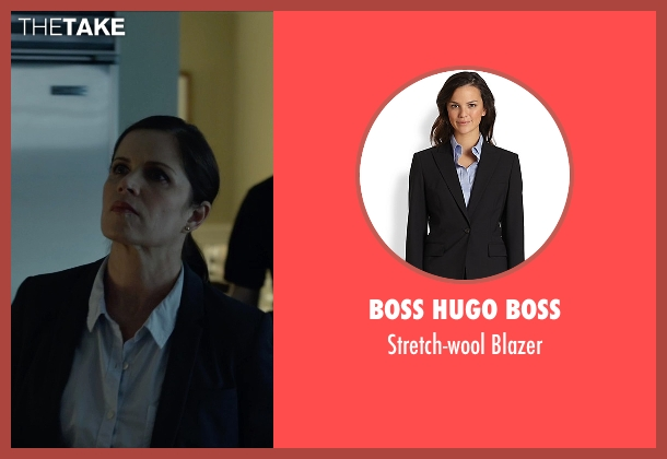 Boss Hugo Boss black blazer from Gone Girl seen with Kim Dickens (Detective Rhonda Boney)