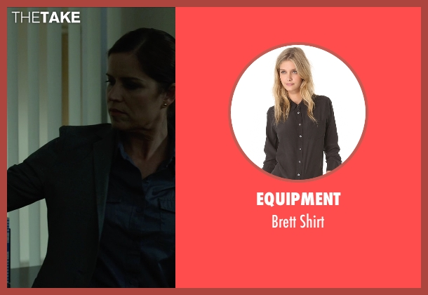 Equipment black shirt from Gone Girl seen with Kim Dickens (Detective Rhonda Boney)