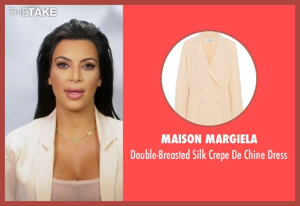 Maison Margiela beige dress from Keeping Up With The Kardashians seen with Kim Kardashian West