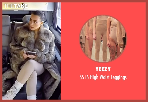 Yeezy beige leggings from Keeping Up With The Kardashians seen with Kim Kardashian West
