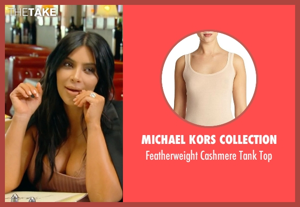 Michael Kors Collection beige top from Keeping Up With The Kardashians seen with Kim Kardashian West