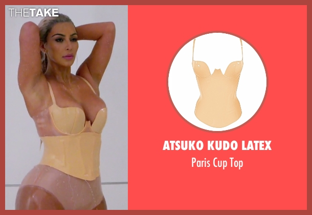 Atsuko Kudo Latex beige top from Keeping Up With The Kardashians seen with Kim Kardashian West